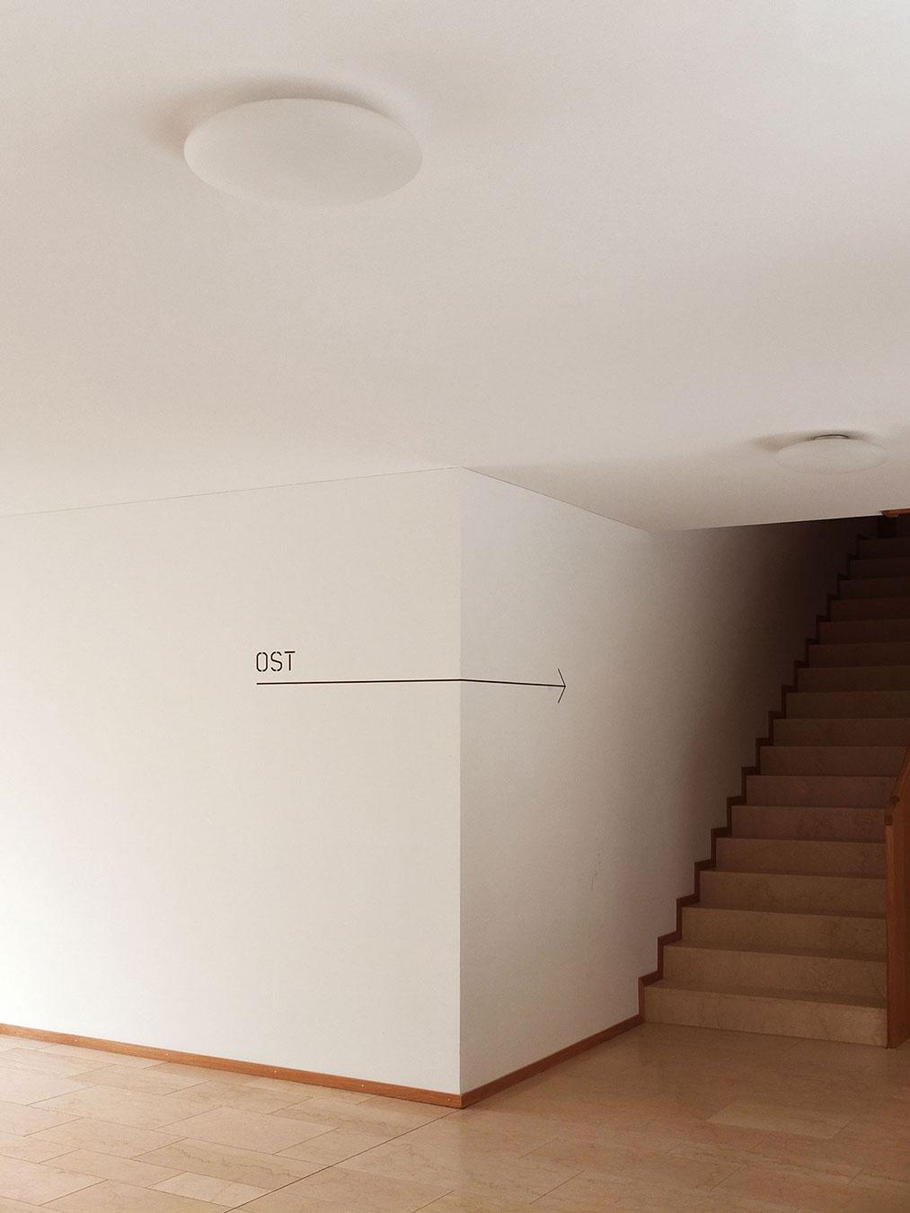 Citybay Luzern Signaletik Innen Treppenhaus
