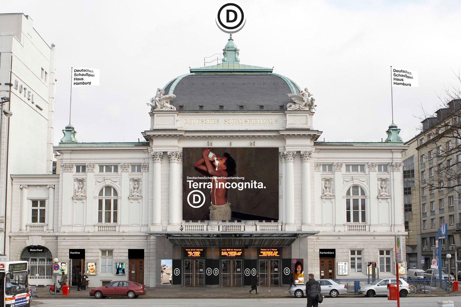 Deutsches Schauspielhaus Hamburg Fahnen Corporate Design