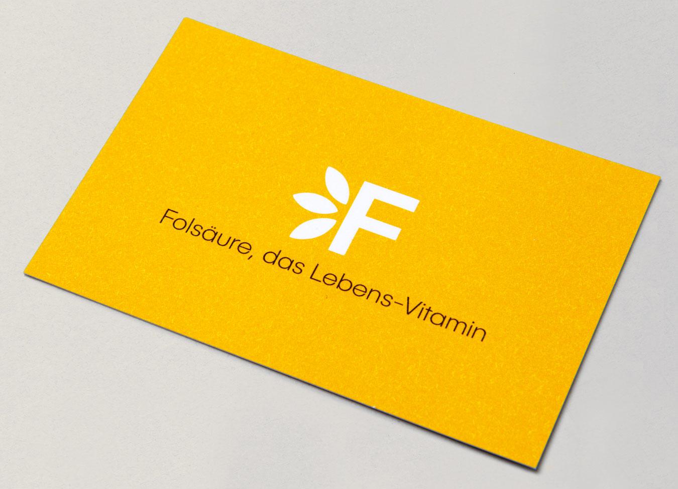 Stiftung Folsäure Visitenkarte Corporate Design