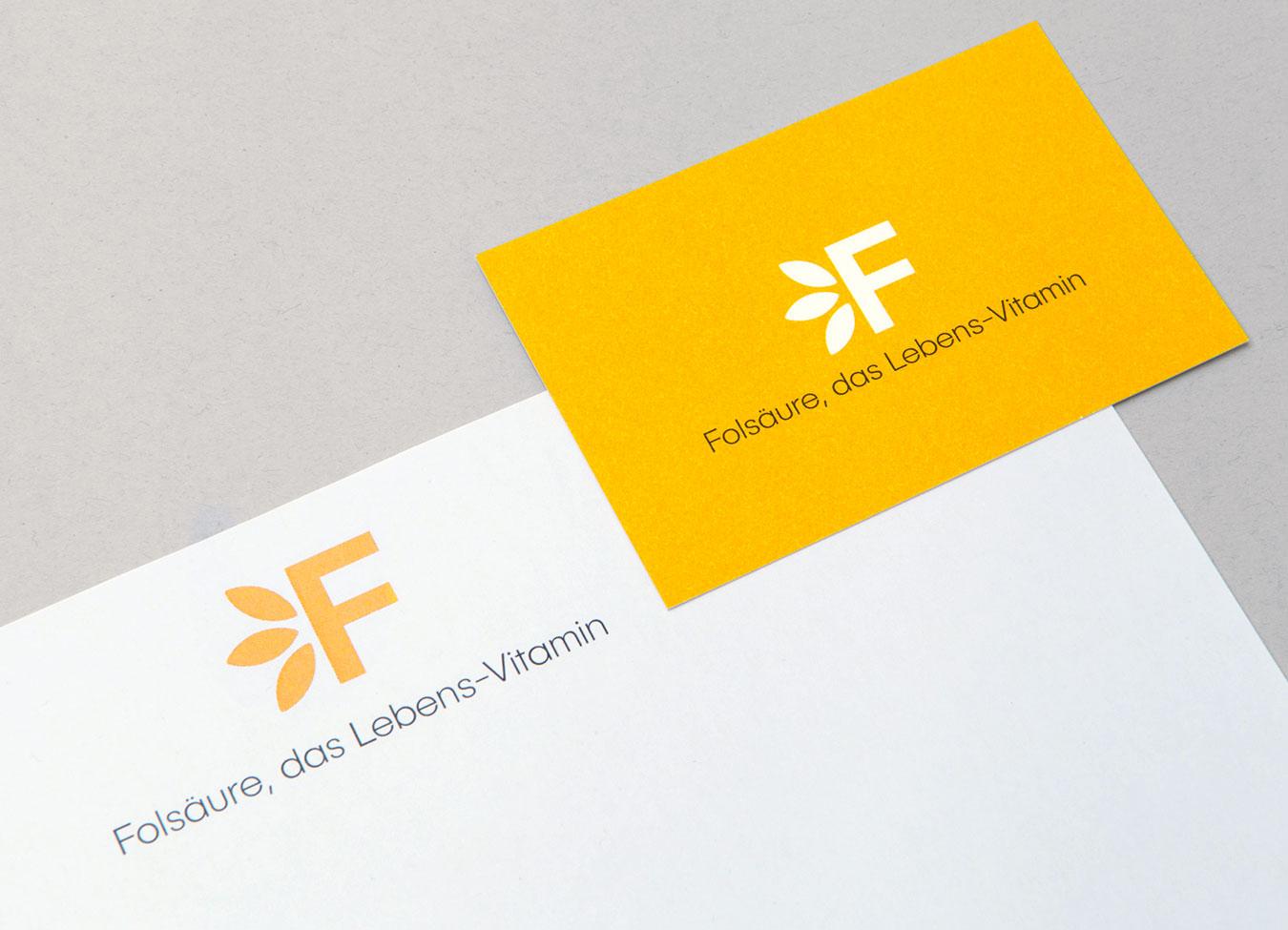 Stiftung Folsäure Briefschaft Corporate Design