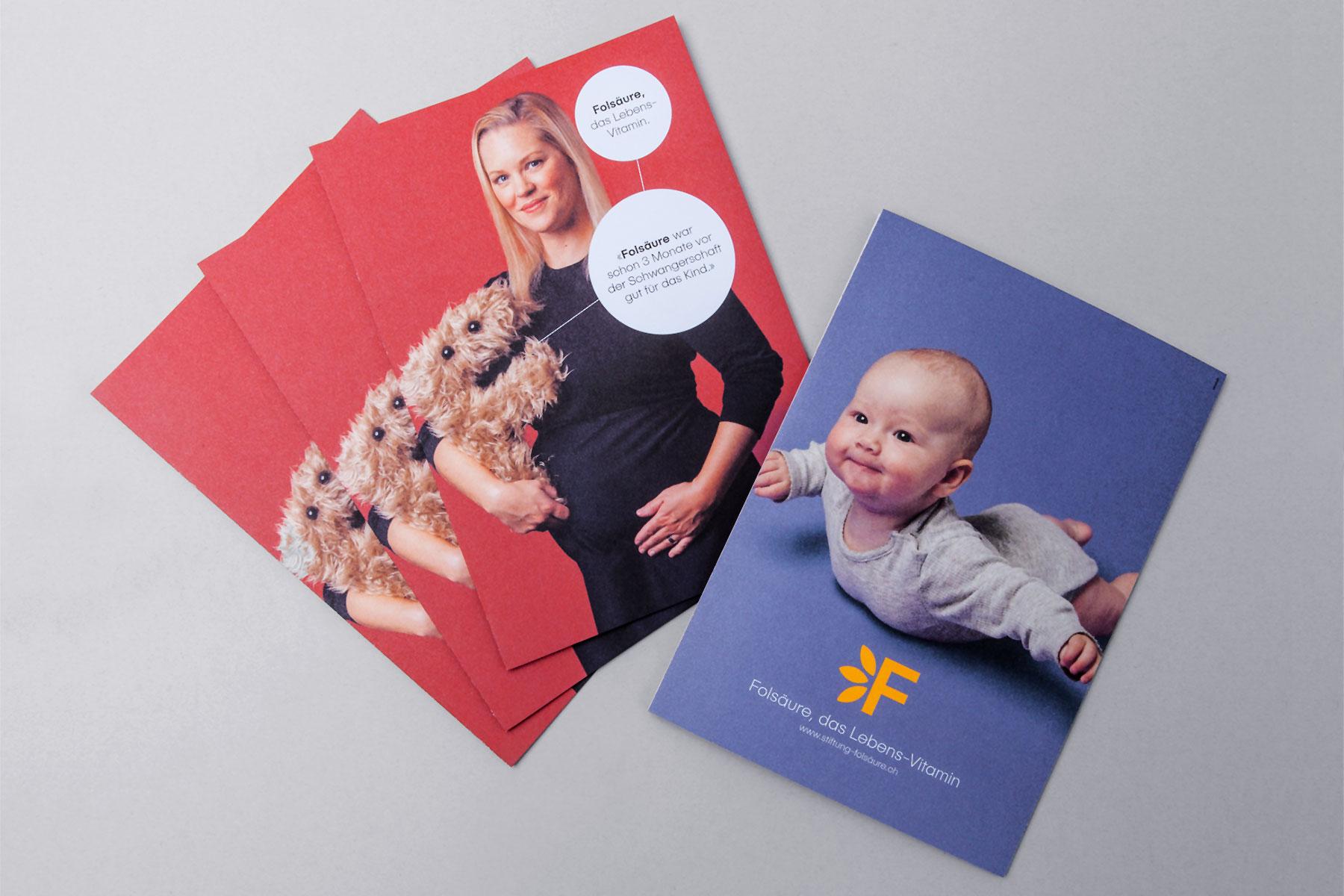 Stiftung Folsäure Leporello Corporate Design