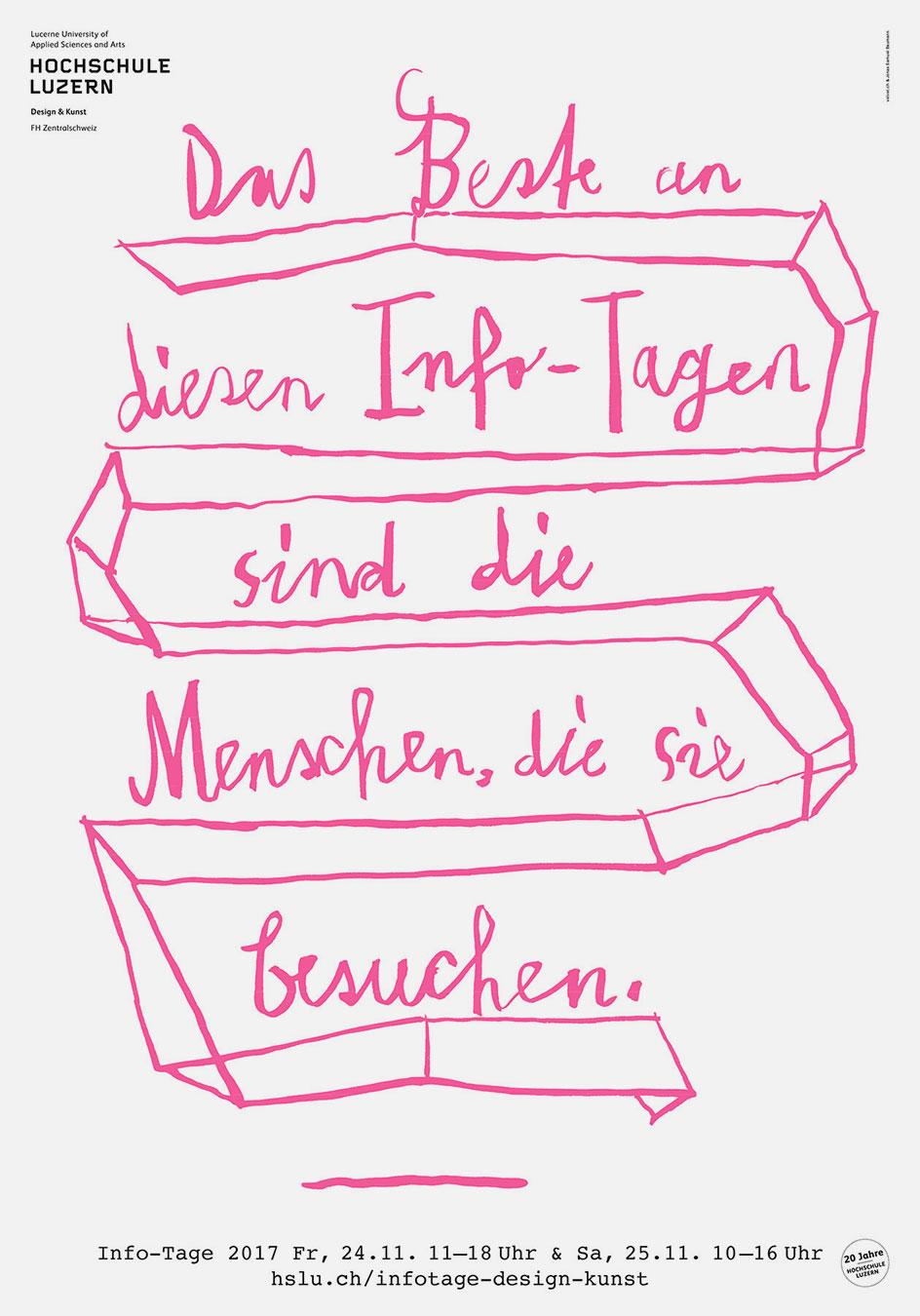 Hochschule Luzern Design und Kunst Werkschau Plakat Werbung Design