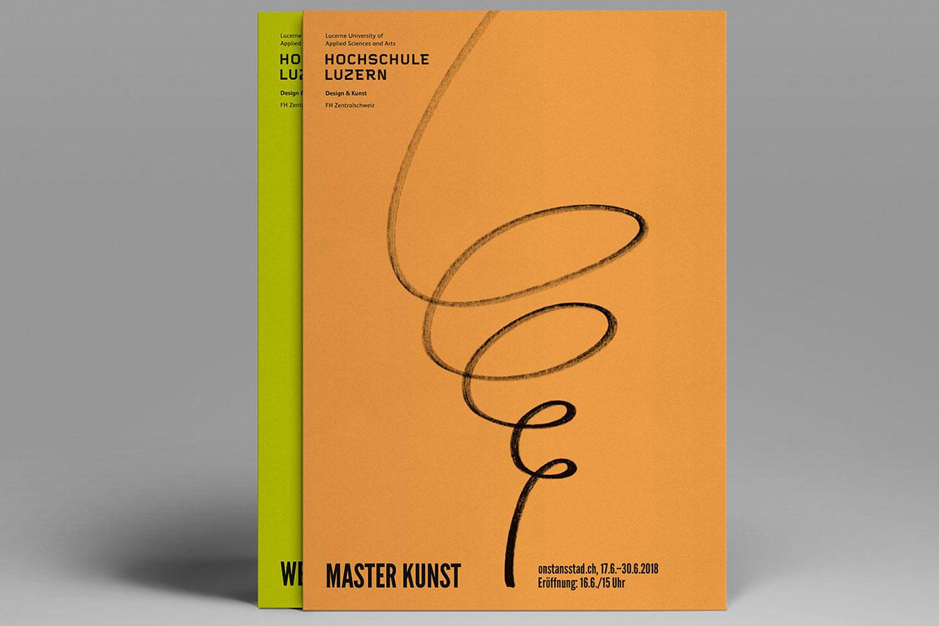 Hochschule Luzern Design und Kunst Werkschau Flyer Werbung Design