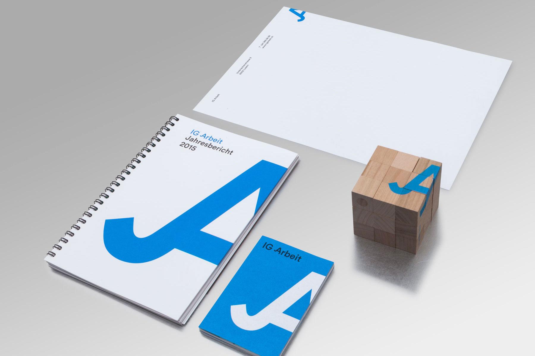 IG Arbeit Drucksacken Corporate Design