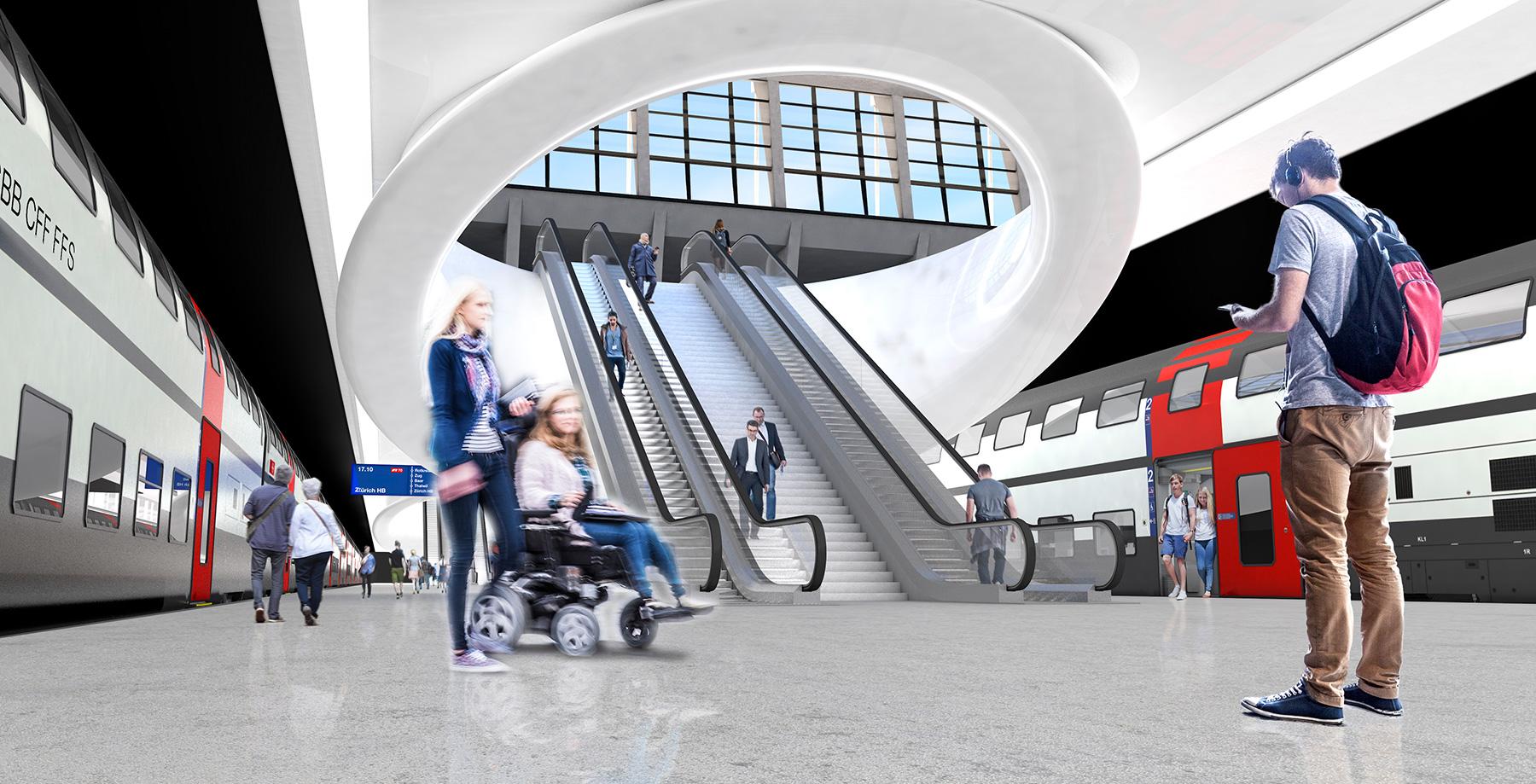 Durchgangsbahnhof Kanton Luzern Visuals