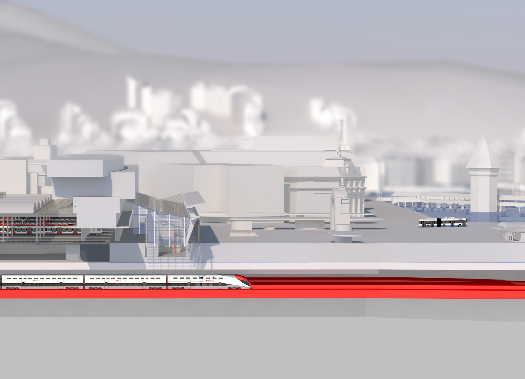 Durchgangsbahnhof Kanton Luzern Visuals Animation