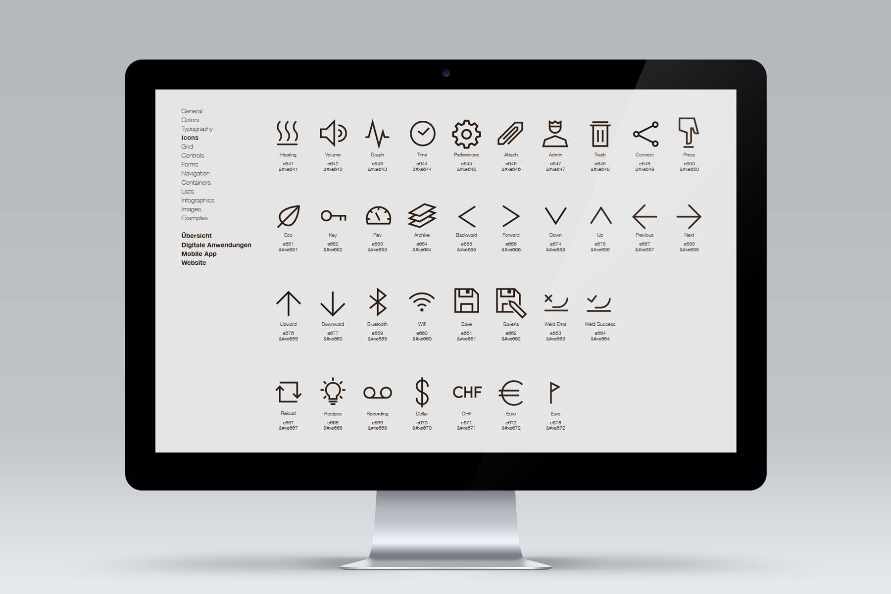 Icon Library für mobile Anwendungen