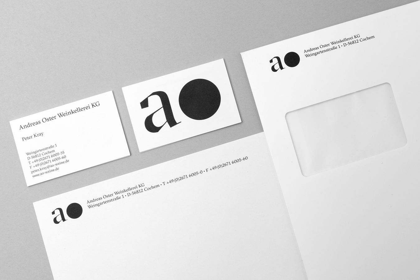 Andreas Oster Briefschaft Corporate Design