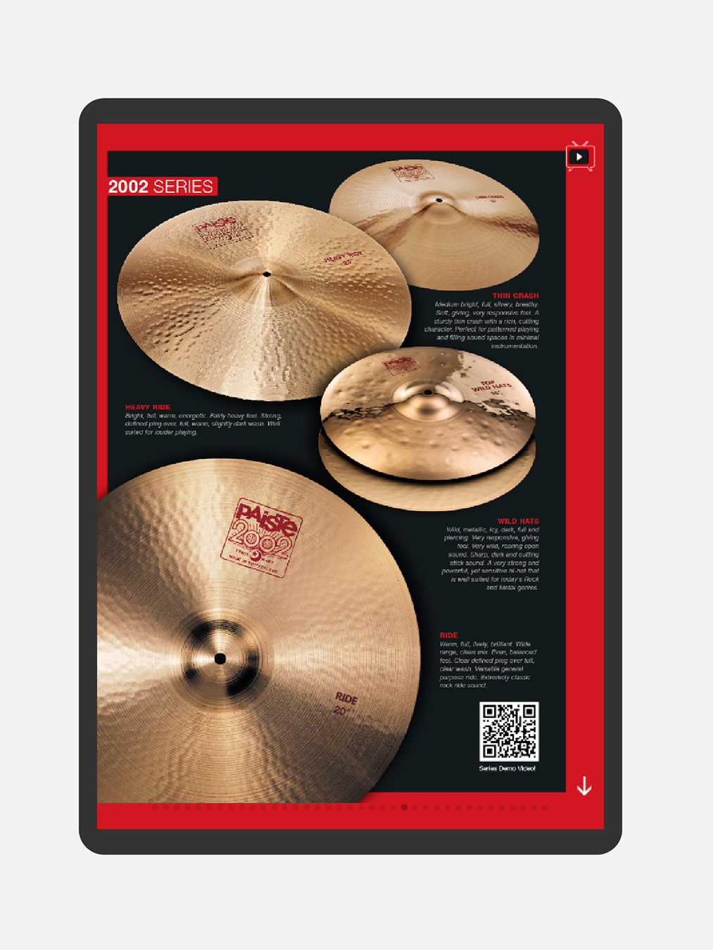 Paiste Mockup Webseite Tablet