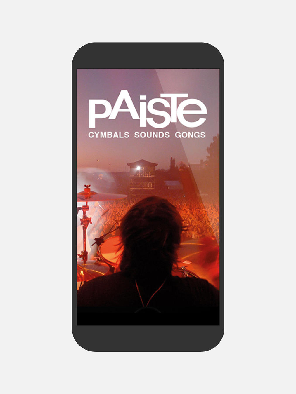 Paiste Mockup Webseite Mobile