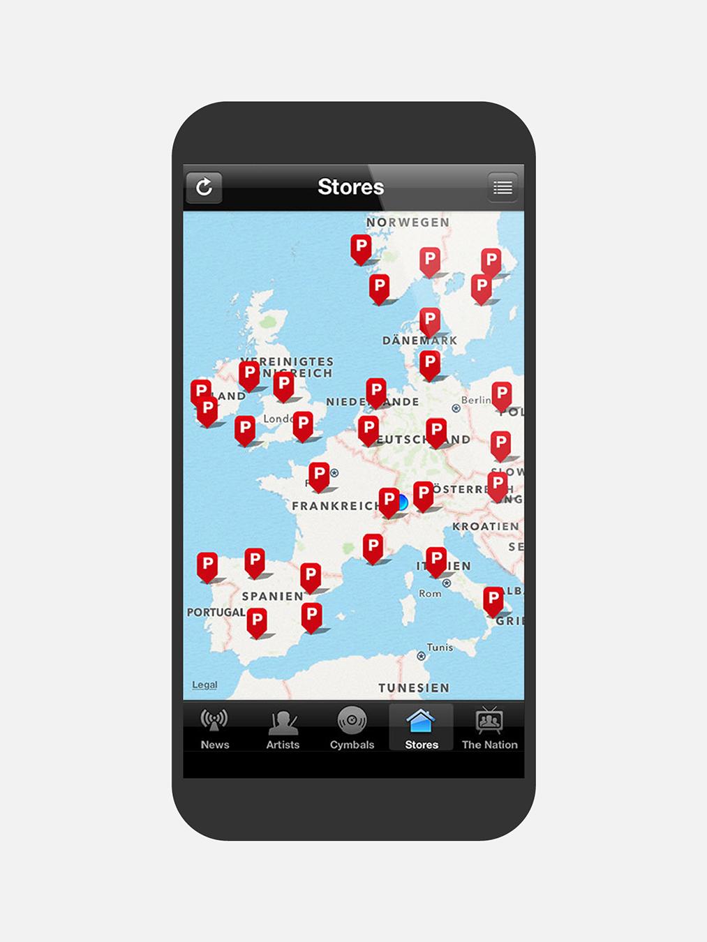 Paiste Mockup Webseite Mobile