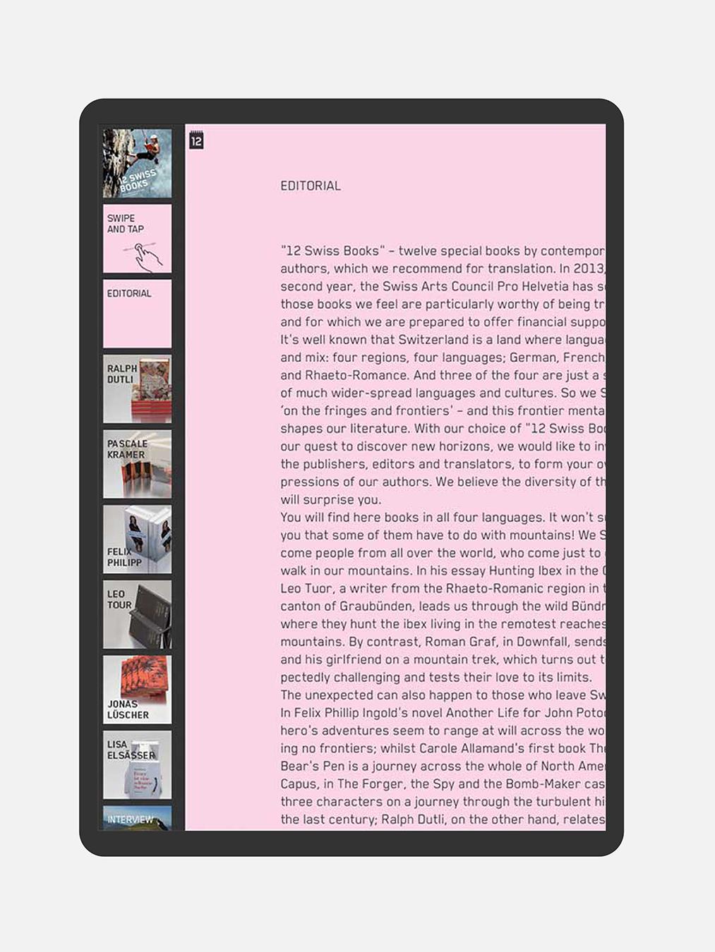 eMagazin für Tablet und mobile Device