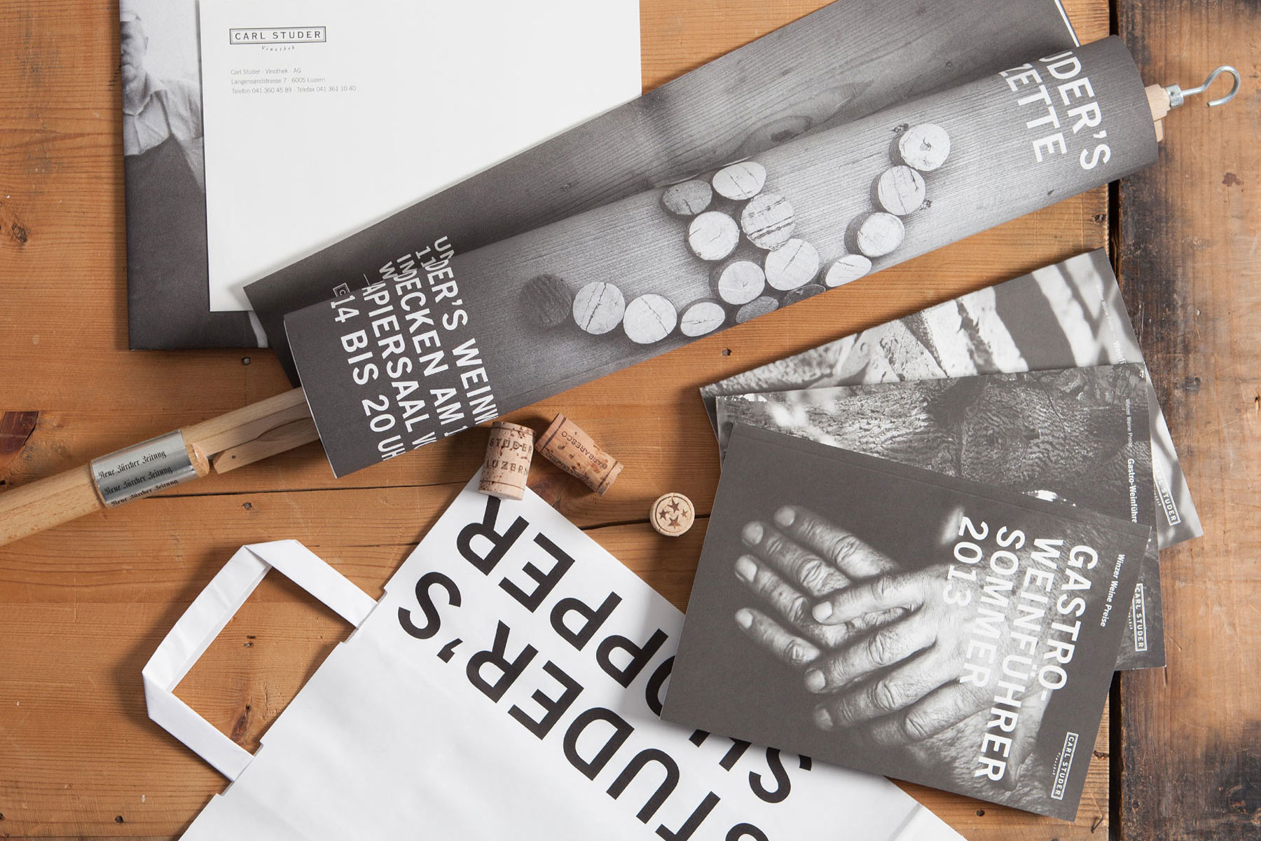 Carl Studer Vinothek Publishing Branding Corporate Design