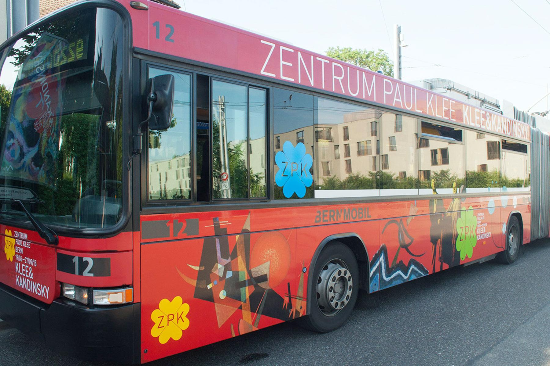 Zentrum Paul Klee Bus Werbung