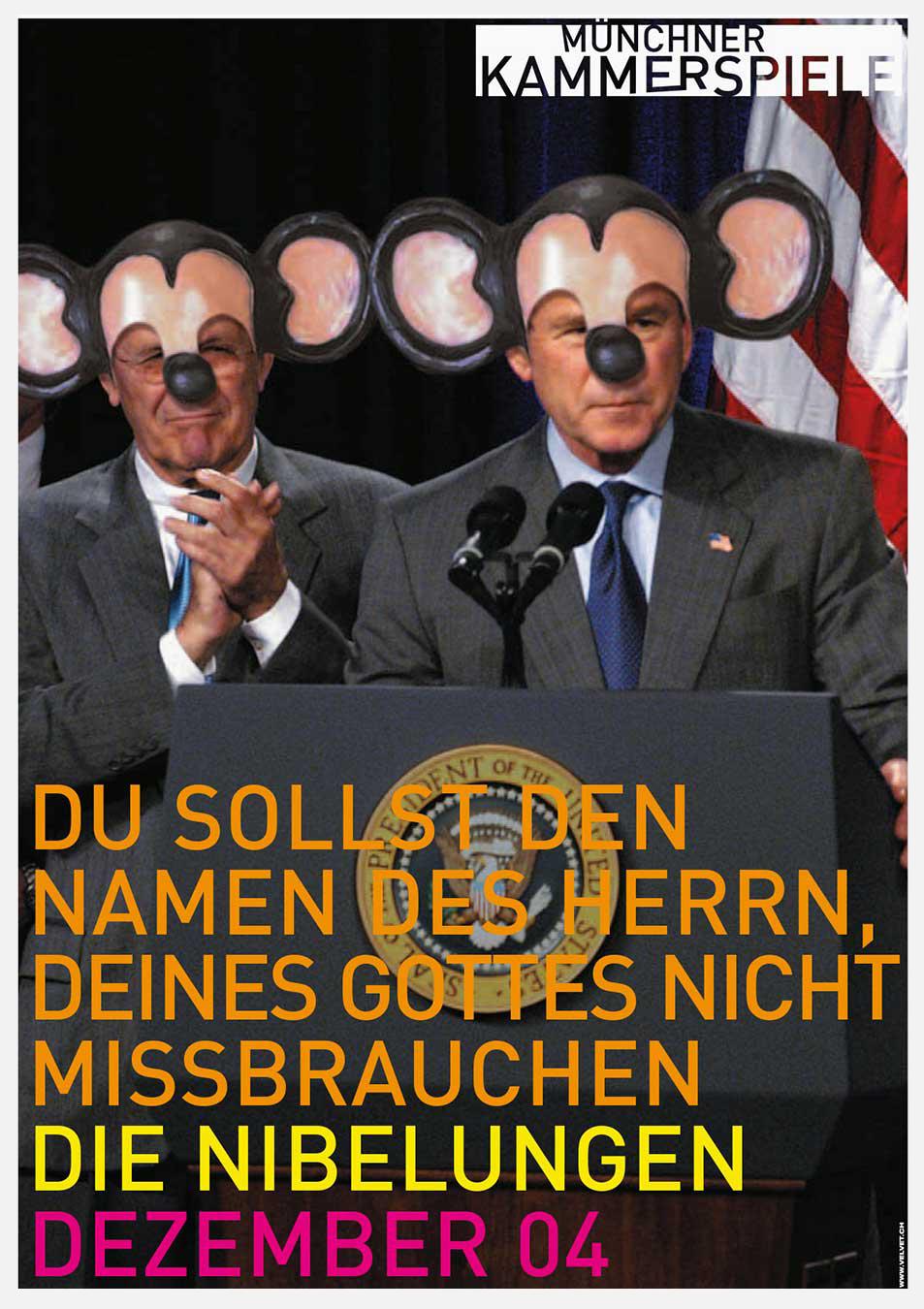 Münchner Kammerspiele Plakat 2004 Kampagne