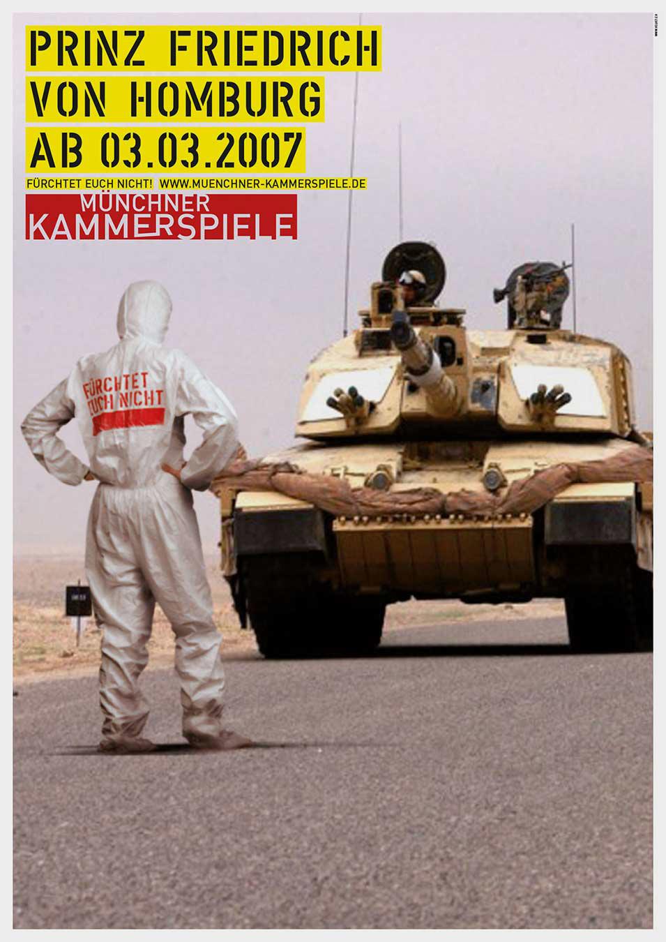 Münchner Kammerspiele Plakat 2007 Kampagne