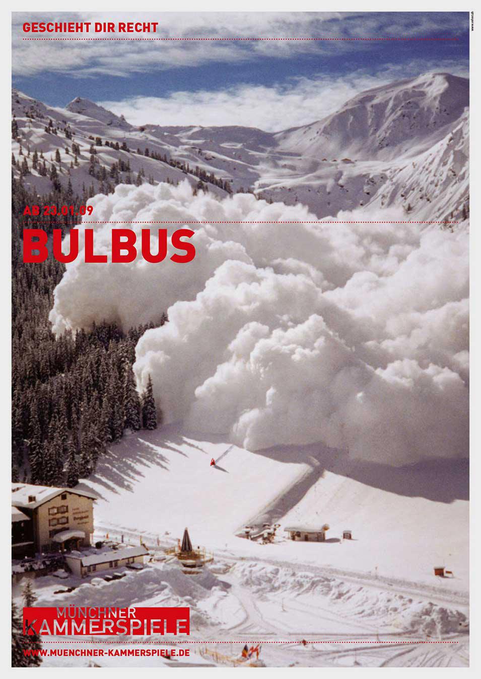 Münchner Kammerspiele Plakat 2009 Kampagne