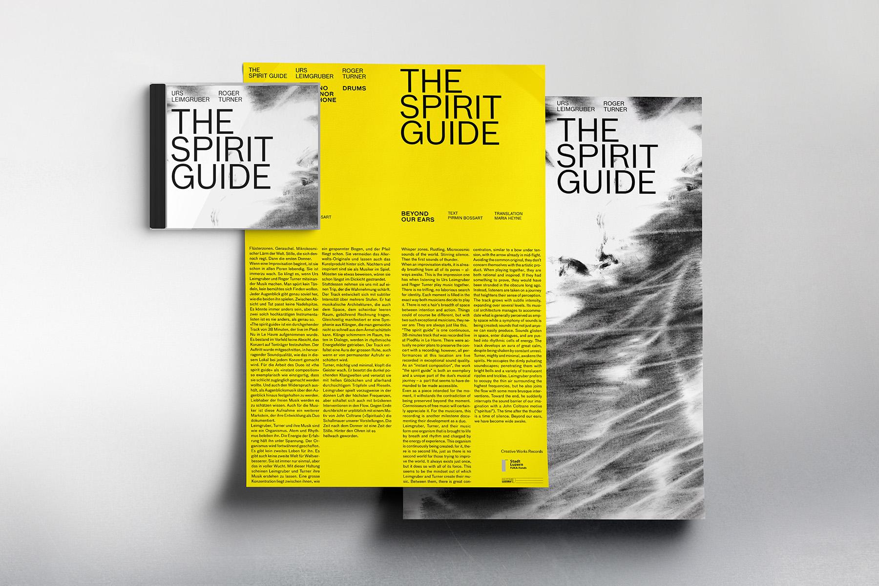 Urs Leimgruber CD Plakat Spirit Guide