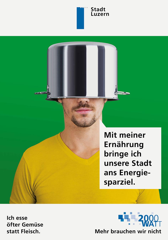 Stadt Luzern 2000 Watt Plakat Kampagne