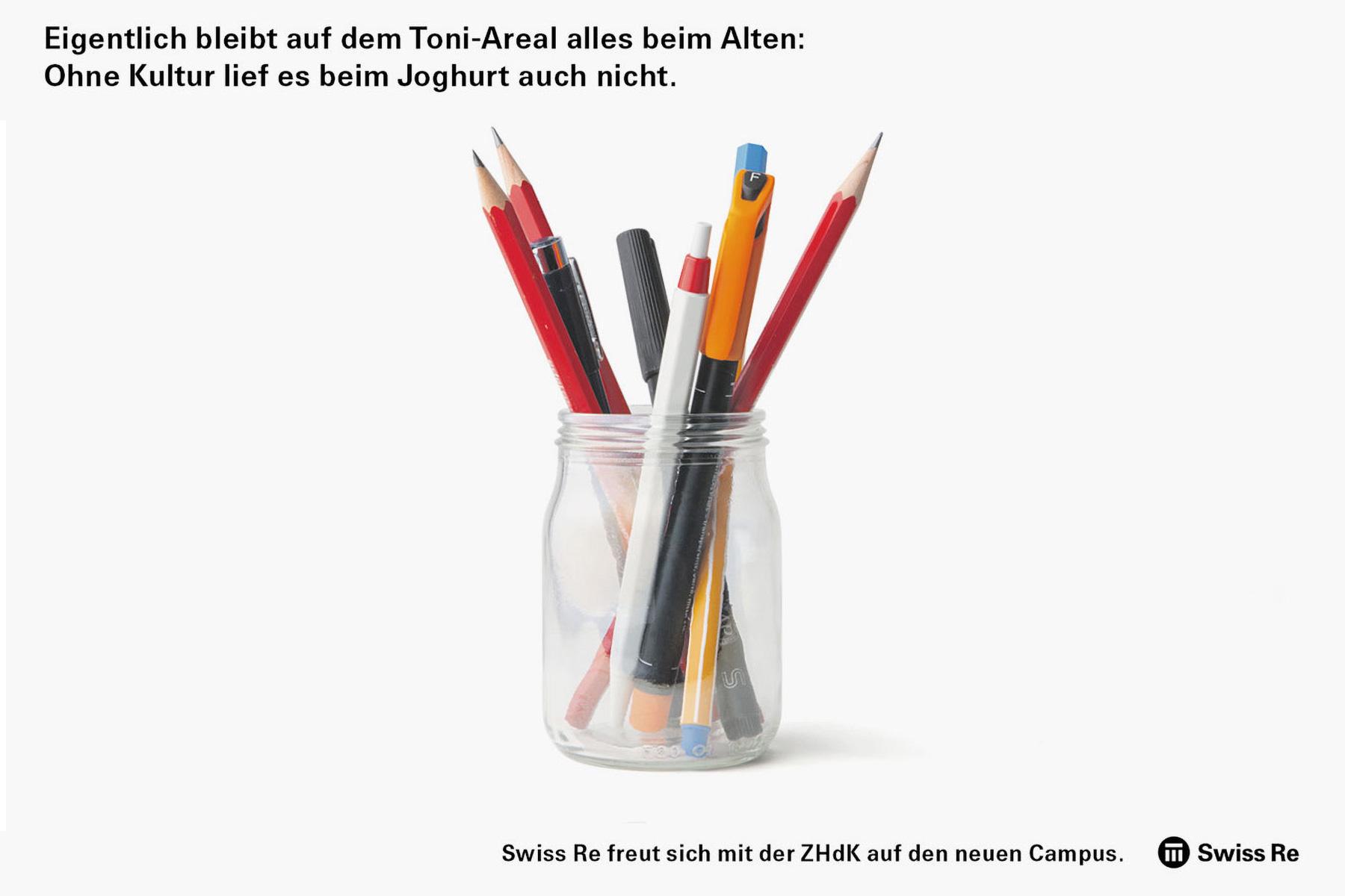 SwissRe Inserat Toni Areal Werbung