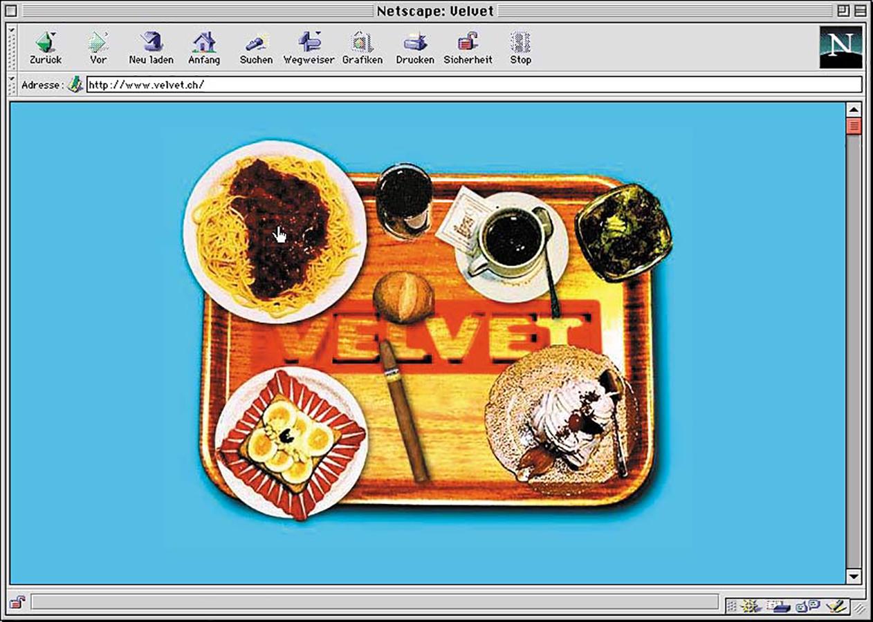 Erste Velvet Webseite 1996