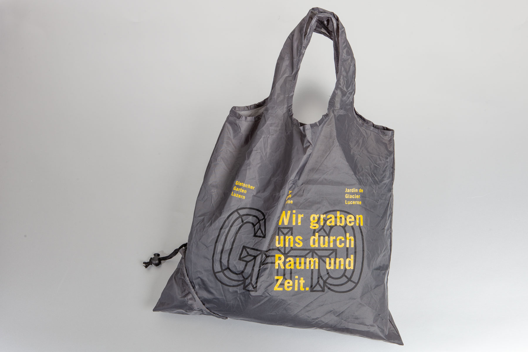 Gletschergarten Merchandise Beutel Corporate Design