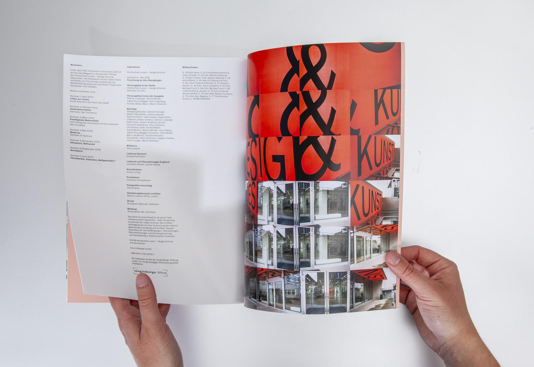 Hochschule Luzern Design und Kunst Magazin Nummer 8 Corporate Publishing