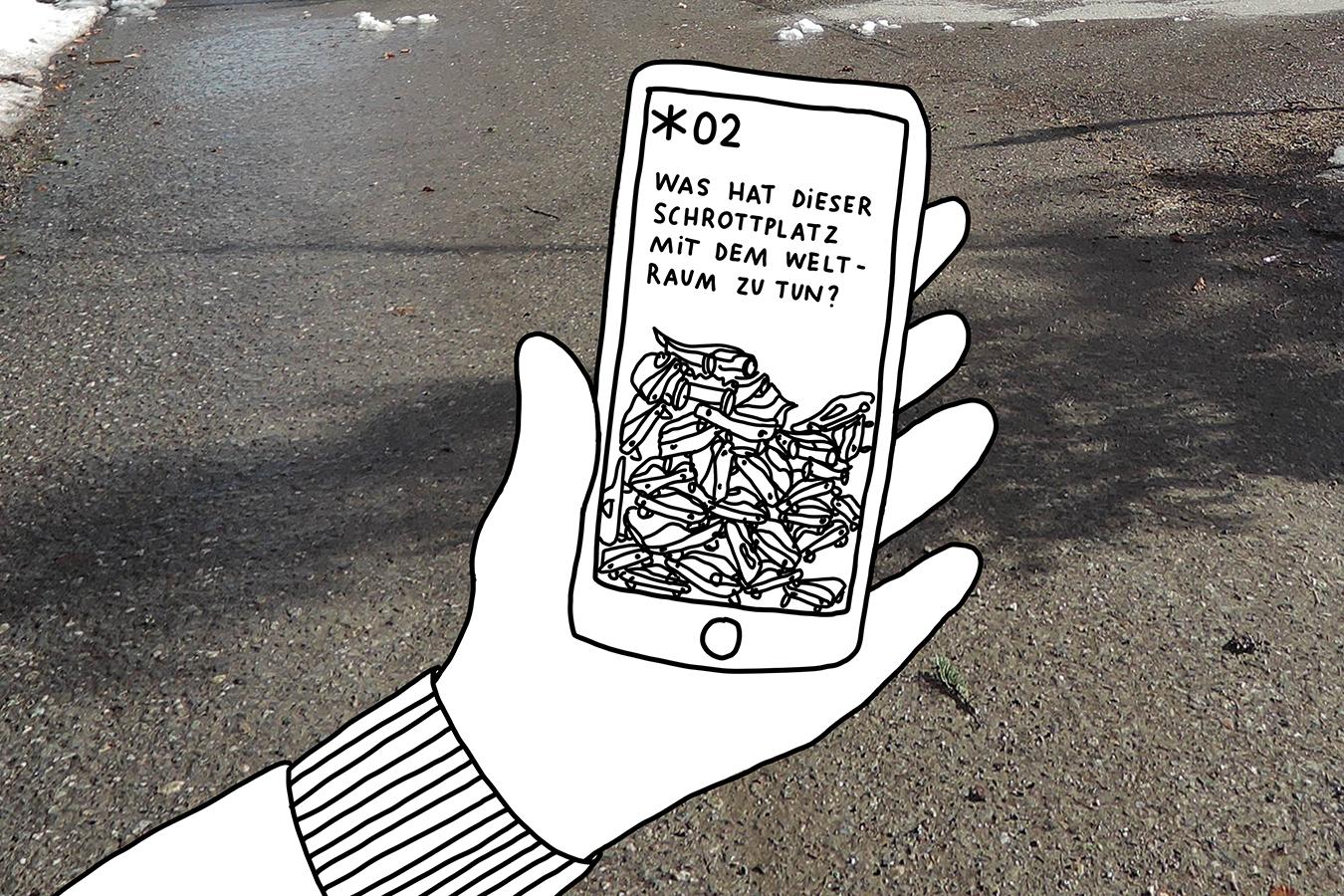 Sternwarte Uecht Astropfad mit Mobile App GPS Visualisierung