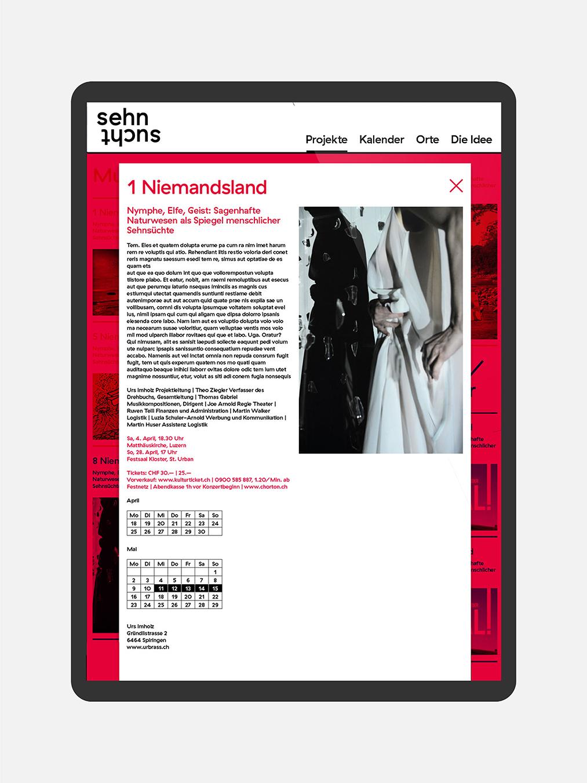 Albert Köchlin Stiftung Sehnsucht Velvet Web Usability