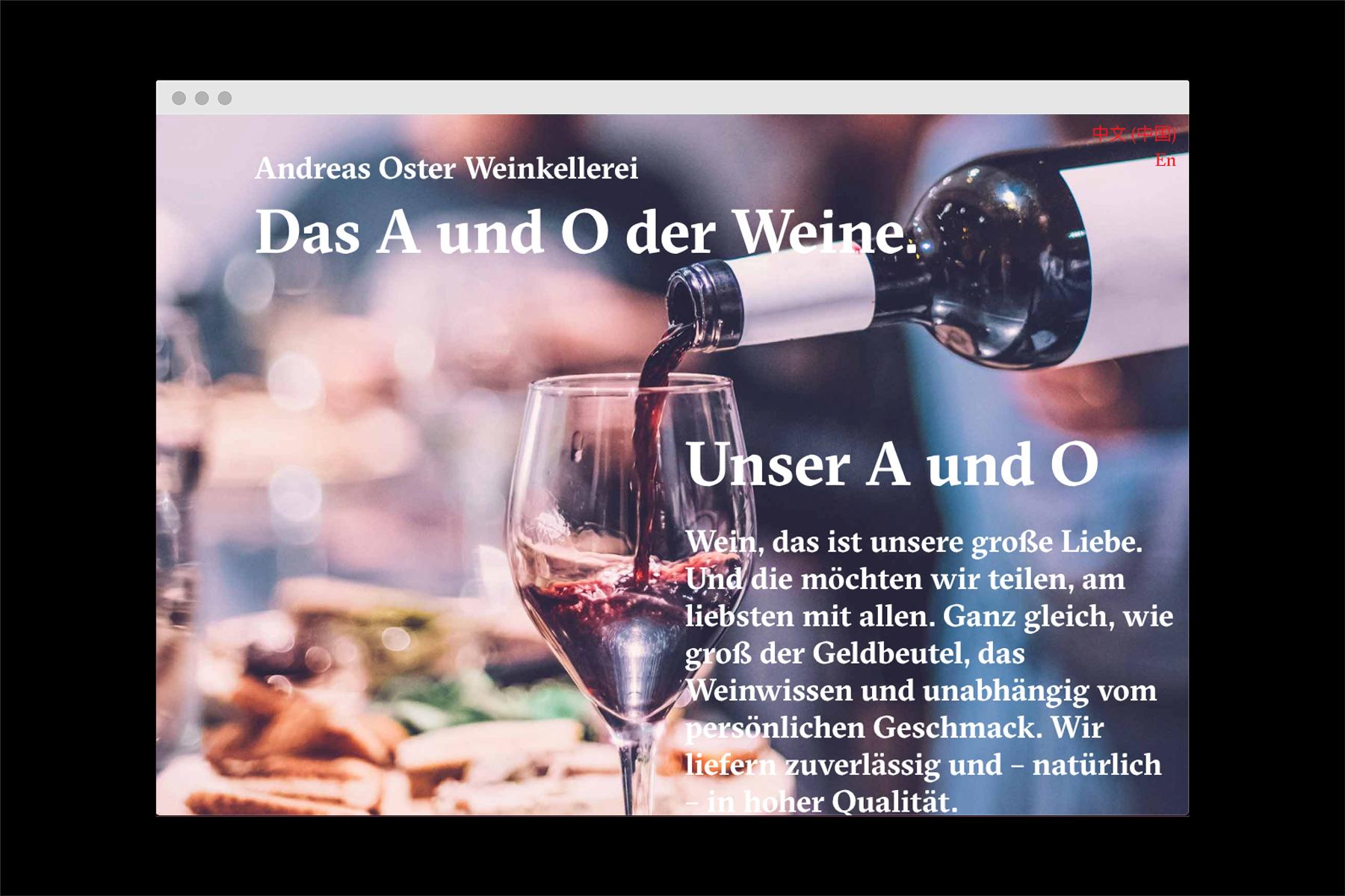 Andreas Oster Webseite Desktop Velvet