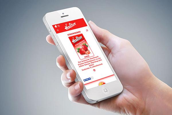 Halter Bonbons Web Mobile Ux Webshop