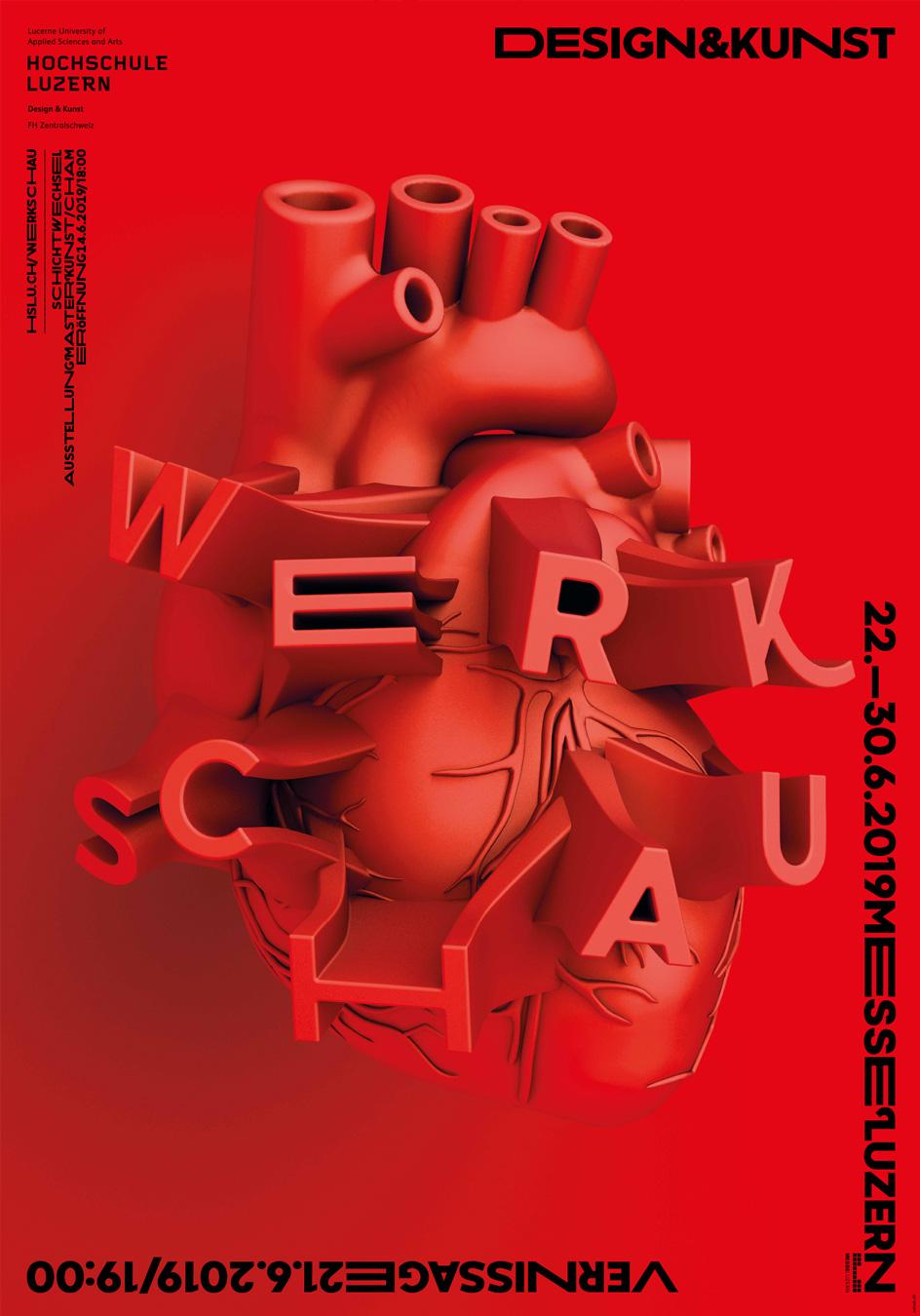 Hochschule Luzern Werkschau Plakat 2019