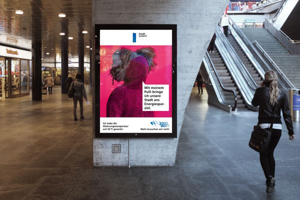 Stadt Luzern 2000 Watt Kampagne Plakat