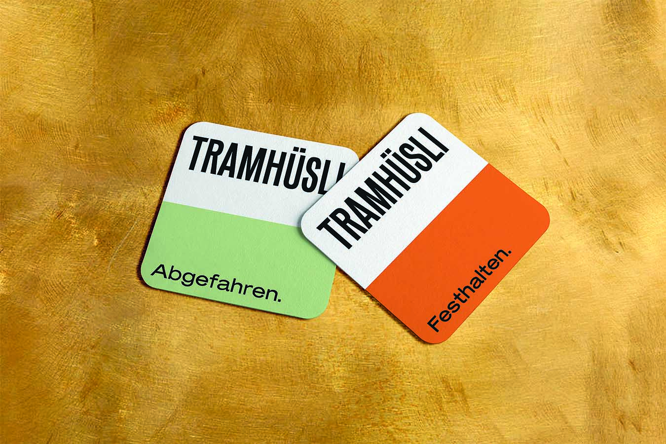 Tramhuesli Bierdeckel Corporate Design