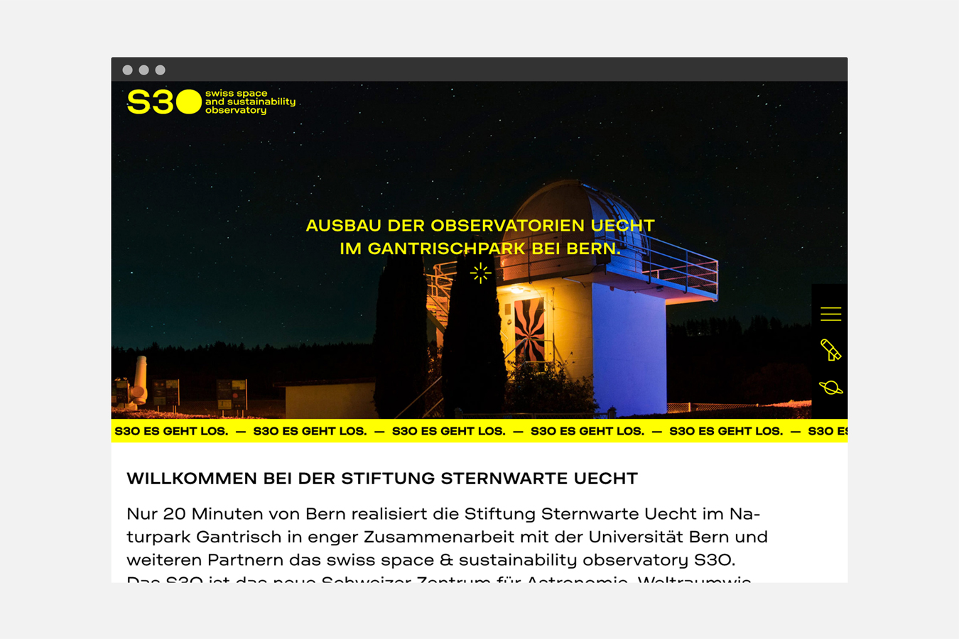 Sternwarte Uecht Website