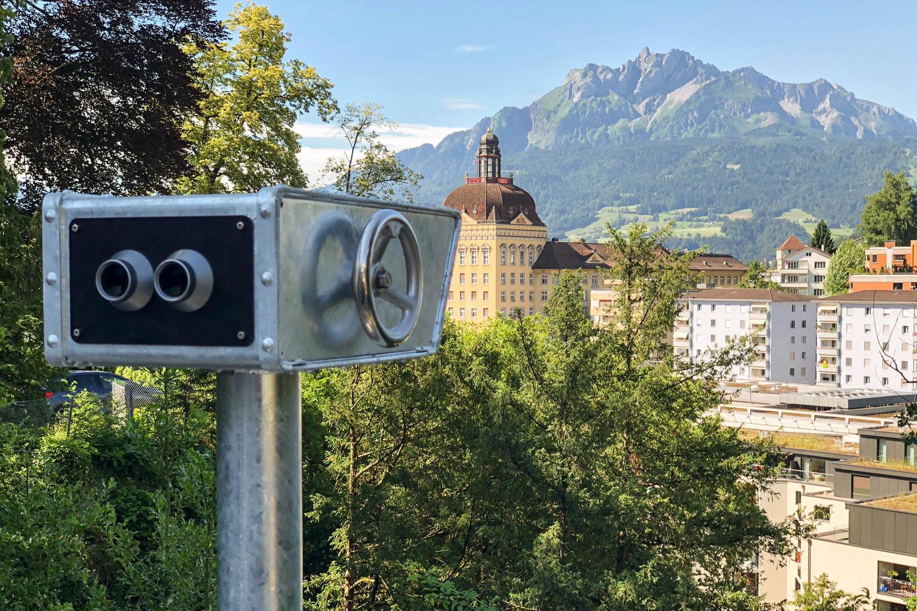 Gletschergarten Luzern Alpenblick