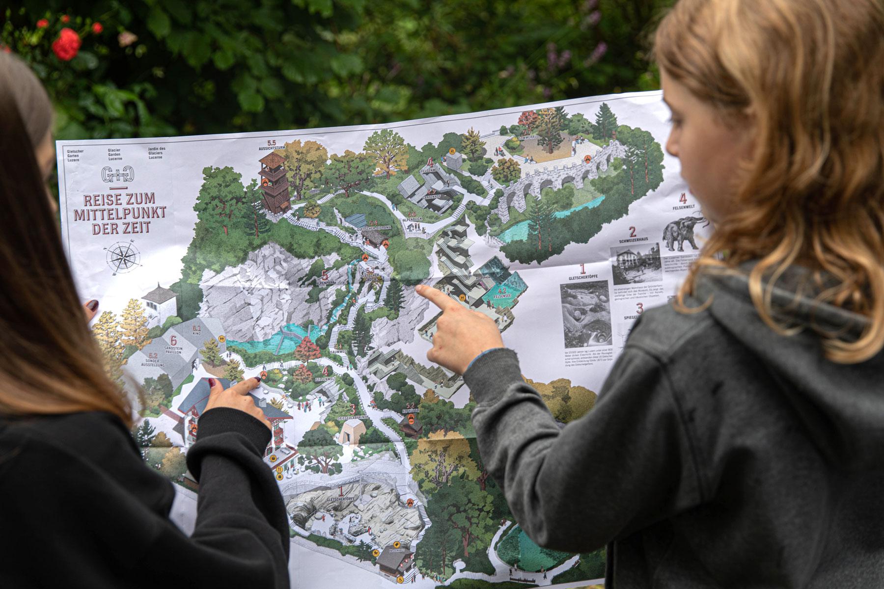 Gletschergarten Luzern Entdeckerkarte